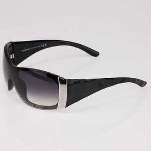 CHANEL Black Gradient Lens Quilted Sunglasses